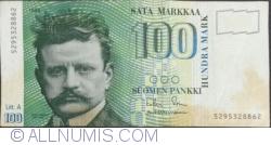 100 Markka 1986 (1991) - semnături Sorsa / Heinonen