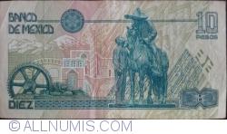 Image #2 of 10 Pesos 1994 (6. V.) - Serie S