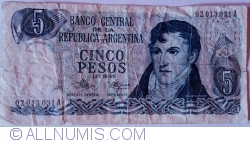 Imaginea #1 a 5 Pesos ND (1971-1973) - semnături Rodolfo A. Mancini / Carlos S. Brignone