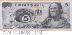 Image #1 of 5 Pesos 1972 (27.VI.) - Seria 1AM