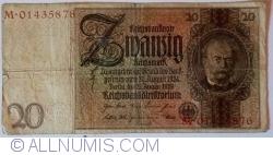 Image #1 of 20 Reichsmark 1929 (22. I.) - L