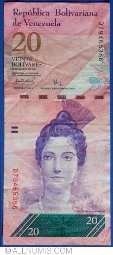 Imaginea #1 a 20 Bolivares 2007 (20. III.)
