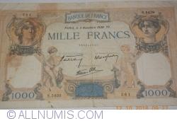 Image #1 of 1000 Francs 1938 (3. XI.)