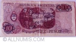 Imaginea #2 a 10 Pesos ND (1970-1973) - semnături Rodolfo A. Mancini / Carlos S. Brignone