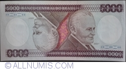 Image #1 of 5000 Cruzeiros ND (1985) - signatures Francisco Oswaldo Neves Dornelles / Antonio Carlos Braga Lemgruber