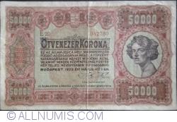 Imaginea #1 a 50 000 Coroane 1923 (1. V.)
