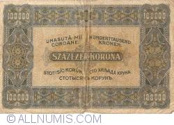 Imaginea #2 a 100 000 Coroane 1923 (1. V.)