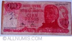 Image #1 of 100 Pesos ND (1971-1973) - signatures Rodolfo A. Mancini / Jorge Bermúdez Emparanza