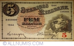 Image #1 of 5 Kronor 1944