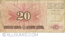 Imaginea #1 a 20 Dinari 1994 (15. VIII.)