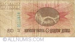 Imaginea #2 a 20 Dinari 1994 (15. VIII.)