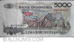 Imaginea #2 a 5000 Rupiah 1992/1998