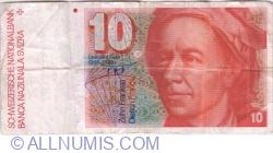 Image #1 of 10 Franken (19)87 - signatures Dr. Francois Schaller / Dr. Hans Meyer (59)