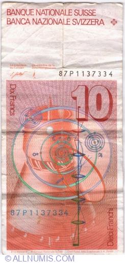 Image #2 of 10 Franken (19)87 - signatures Dr. Francois Schaller / Dr. Hans Meyer (59)