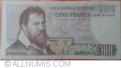 100 Francs 1970 (25. V.) - signatures Maurice Jordens / Hubert Ansiaux