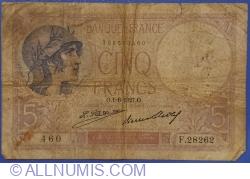 5 Francs 1927 (1. VI.)