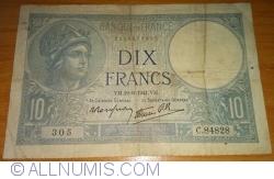 Image #1 of 10 Francs 1941 (19. VI.)