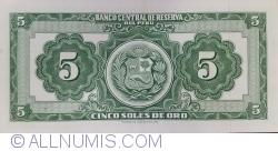 Imaginea #2 a 5 Soles de Oro 1962 (9. II.)