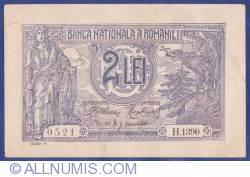 Imaginea #1 a 2 Lei 1915 (12. III.) (3) - semnătură GUVERNATOR