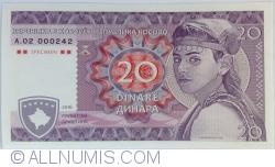 Imaginea #1 a Kosovo - 20 Dinari 2016