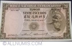 Imaginea #1 a 20 Escudos 1967 (24. X.) - semnături Camilo Afonso Máximo Cimourdain Ferreira de Oliveira / Francisco José Vieira Machado