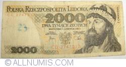Image #1 of 2000 Zlotych 1982 (1. VI.)