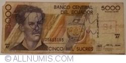 5000 Sucres 1987 (1. XII.) - Serie AF