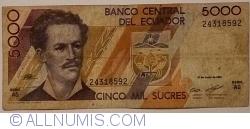 Imaginea #2 a 5000 Sucres 1991 (21. VI.) - Serie AG