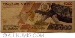 Imaginea #1 a 5000 Sucres 1991 (21. VI.) - Serie AG