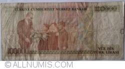 Image #2 of 100 000 Lira L. 1970 (1991) - signatures Dr. Rüşdü SARACOGLU / Kadir GÜNAY