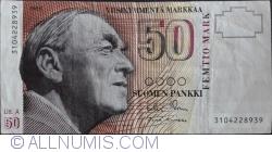 Imaginea #1 a 50 Markka 1986 (1991) - semnături Sorsa / Koivikko
