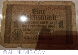 Image #1 of 1 Reichsmark ND(1940-1945) - two digits serial prefix