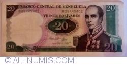 Imaginea #1 a 20 Bolivares 1987 (20. X.)