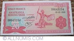 Image #1 of 20 Francs 2003 (1. VII.)