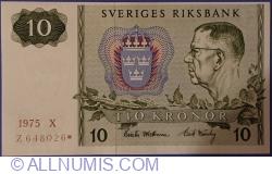 Imaginea #1 a 10 Coroane 1975 - bancnotă de înlocuire