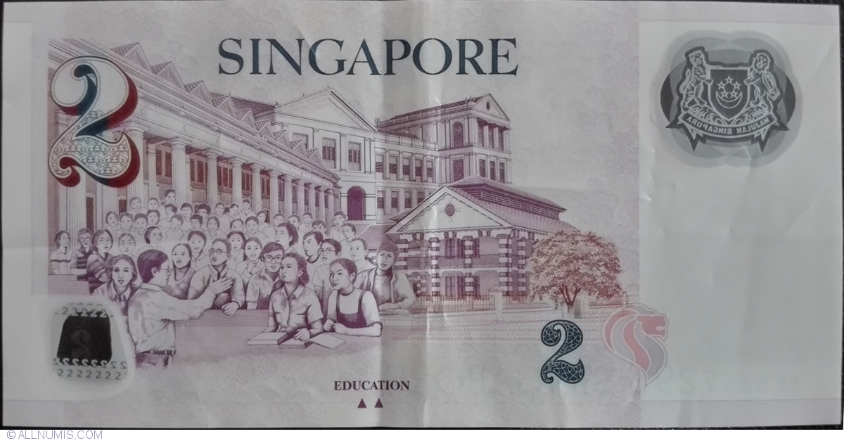 President//Schools//p46e UNC Singapore 2 Dollars