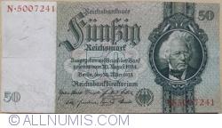 Imaginea #1 a 50 Reichsmark 1933 (30. III.) - B (serie cu 7 cifre)
