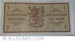 1 Markka 1963 - semnături Karjalainen/ Engberg
