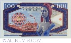 Image #1 of Saar - 100 Francs / Mark 2017
