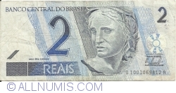 Image #1 of 2 Reais ND (2001- ) - signatures Guido Mantega/ Alexandre Antonio Tombini