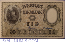 Image #1 of 10 Kronor 1956 - 5