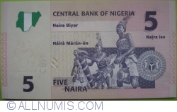 Image #2 of 5 Naira 2006 (7 digits serial)