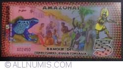 Image #2 of 5 Ecuatorial Francs 2014 - Amazonas