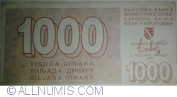 Imaginea #1 a 1000 Dinari 1992 (1. VIII.)