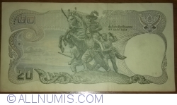 Image #2 of 20 Baht BE 2524 (1981) - signatures Amnuay Veeravan / Rerngchai Maraganon (67)