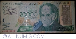 Imaginea #1 a 20 000 Bolivares 1998 (24. VIII.)