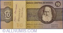 Image #1 of 10 Cruzeiros ND (1979) - signatures Mário Henrique Simonsen / Paulo Hortênsio Pereira Lira