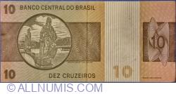 Image #2 of 10 Cruzeiros ND (1979) - signatures Mário Henrique Simonsen / Paulo Hortênsio Pereira Lira