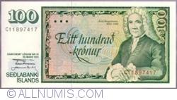 Image #1 of 100 Krónur 1961 (1981) - signatures B. I. Gunnarsson & J. Sigurðsson