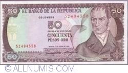 Imaginea #1 a 50 Pesos Oro 1986 (1. I.)